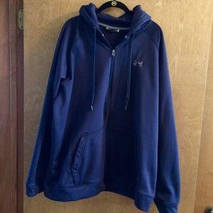 Men's Under Armour zip up hooded jacket